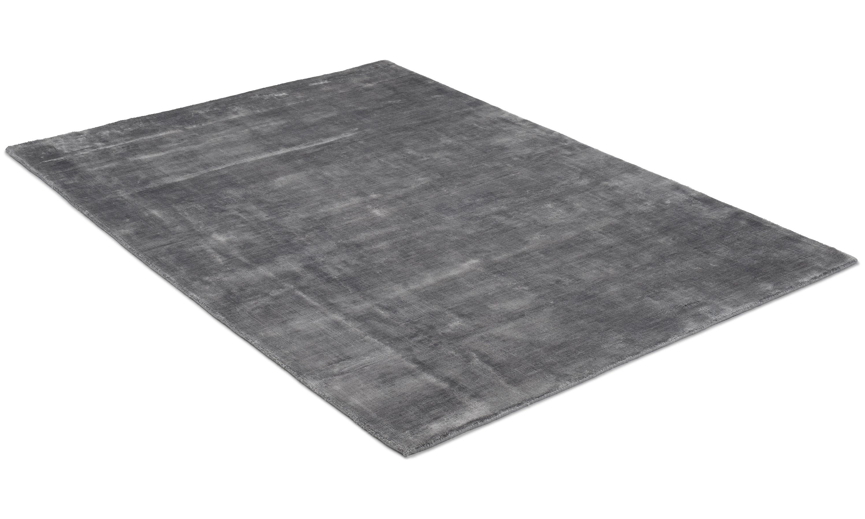 Image of   Angel mørkegrå - håndvævet tæppe med luv