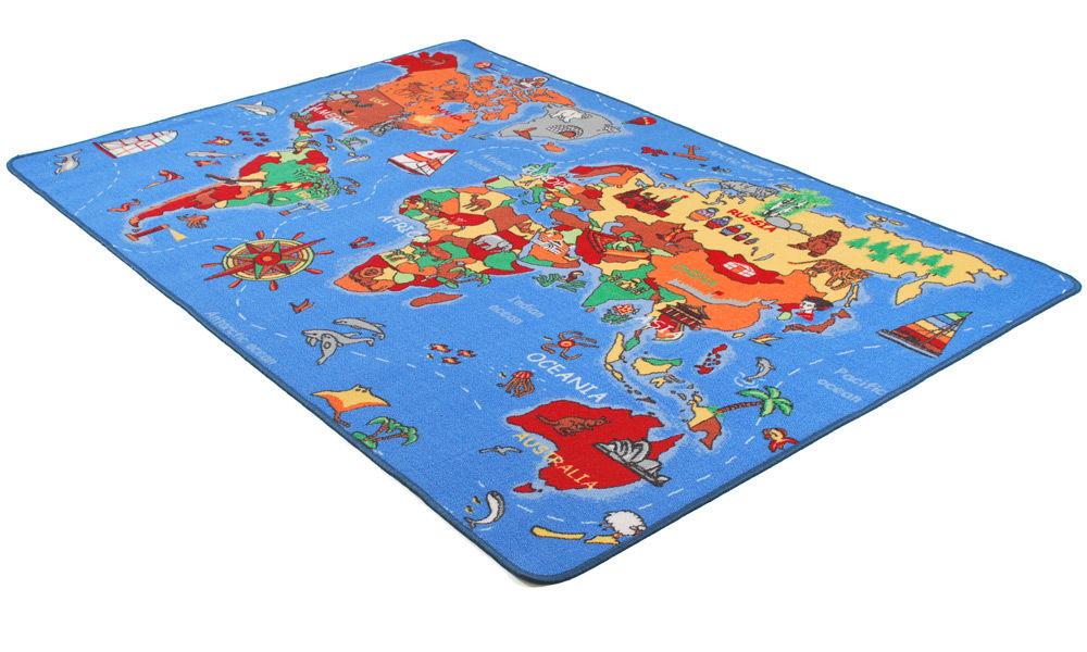 Image of   World Map - børnetæppe