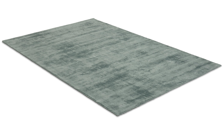 Bexley grön - handvävd matta med lugg
