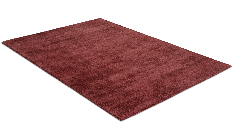 Image of   Bexley vinrød - håndvævet tæppe med luv
