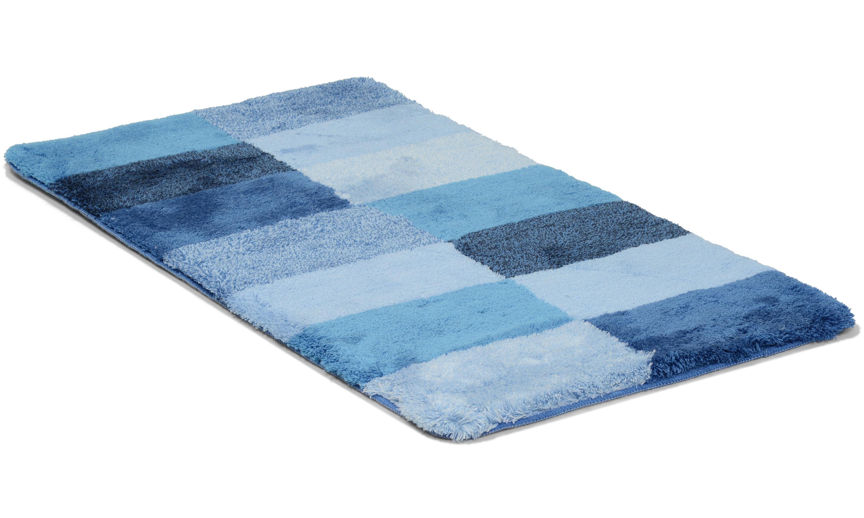 Image of   Blocks blå - badeværelsesmåtte