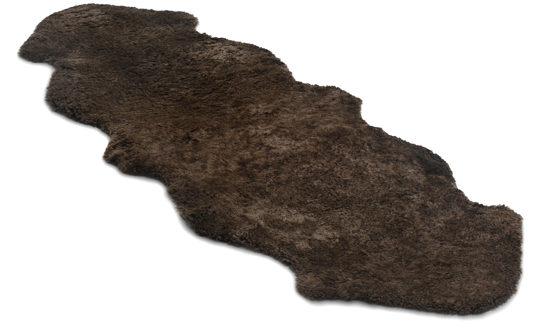 Image of   Dobbelt krøllet fåreskind - 30286 brunmeleret