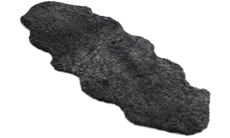 Image of   Dobbelt krøllet fåreskind - 30229 mørkegrå