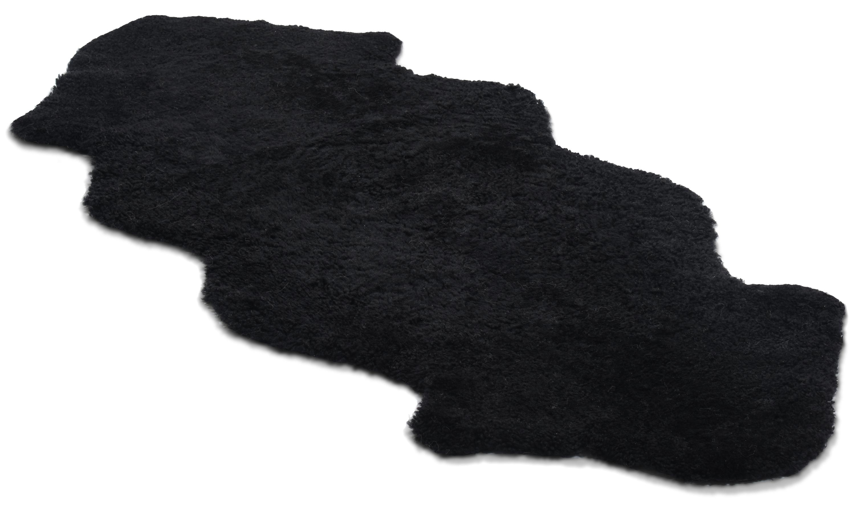 Image of   1,5 sammensyet krøllet fåreskin - 301599 sort