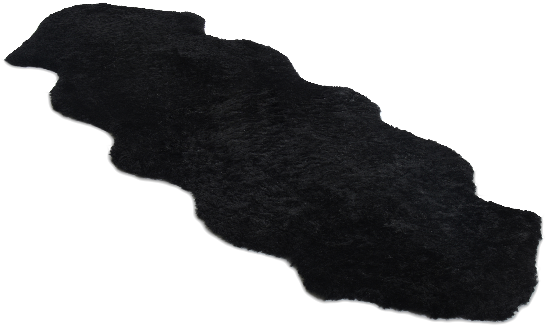 Image of   Dobbelt krøllet fåreskind - 30299 sort
