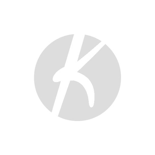 Krøllete rund stolpute i saueskinn - naturgrå