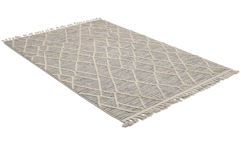 Image of   Ariana Trend hvid/grå - maskinvævet tæppe