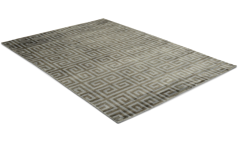 Image of   Athena grå - håndvævet tæppe med luv