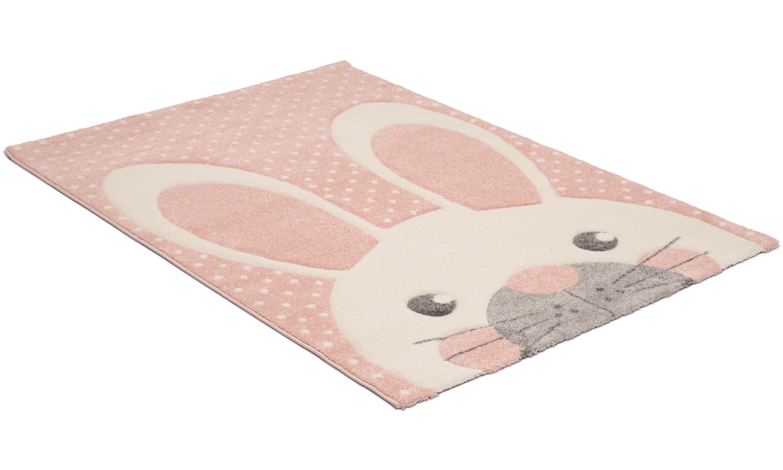 Image of   London rabbit lyserød - børnetæppe