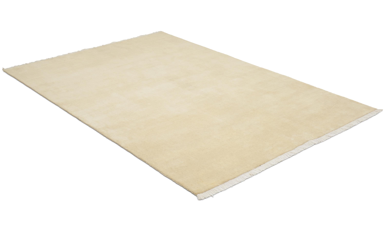 Drama handloom pure white - handvävd matta med lugg