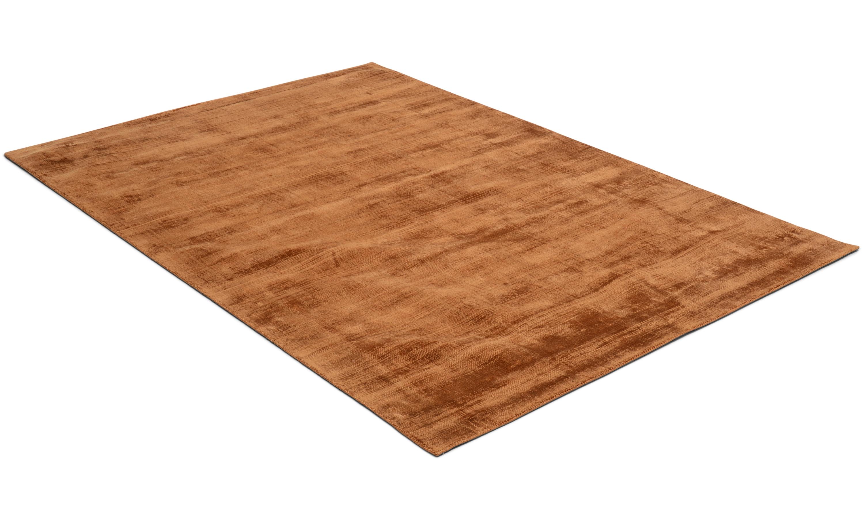 Image of   Bexley bronze - håndvævet tæppe med luv