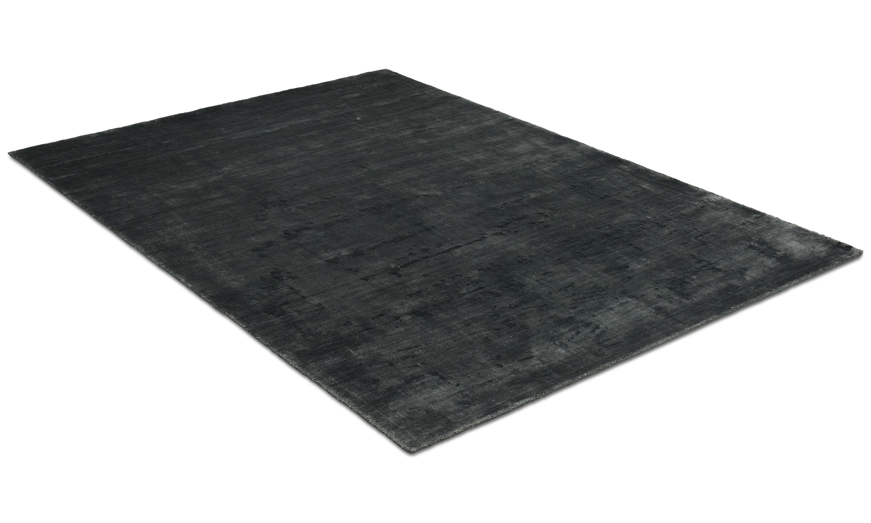 Image of   Angel antracit - håndvævet tæppe med luv