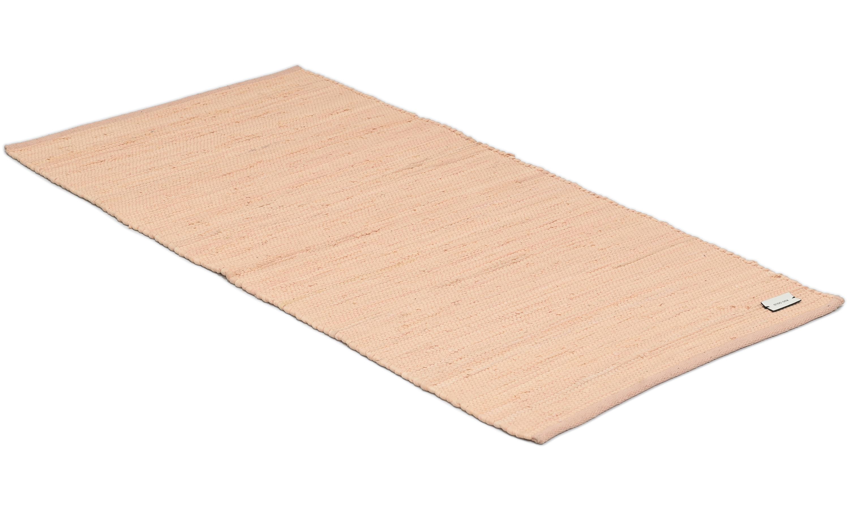 Cotton rug soft peach - trasmatta