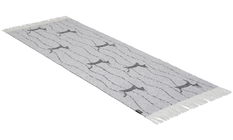 Image of   Fox grå - plast- og garntæppe