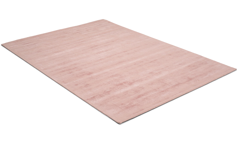 Image of   Bexley rosa - håndvævet tæppe med luv