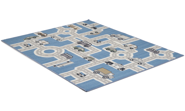 Image of   Vægtæppe gummieret blå - børnetæppe