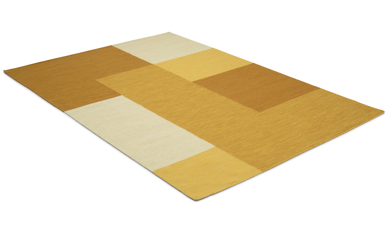 Image of   Ascot gul - håndvævet uldtæppe