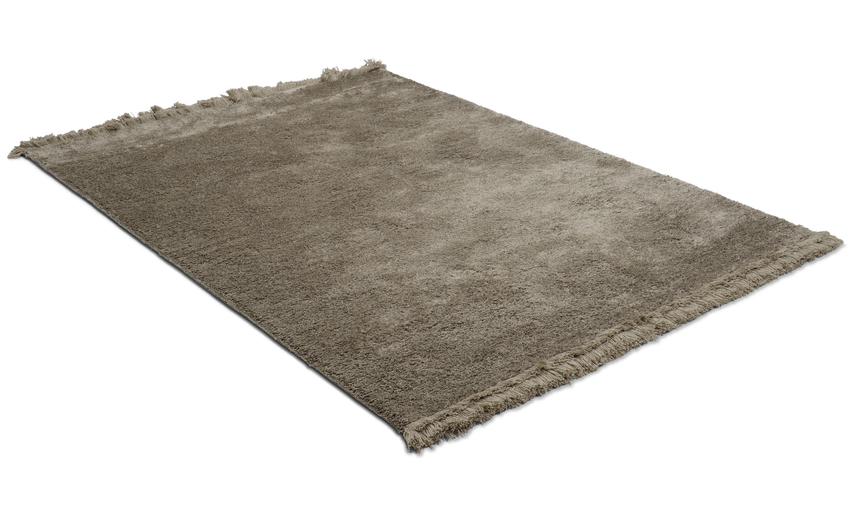 Kisho grey - handvävd matta med lugg