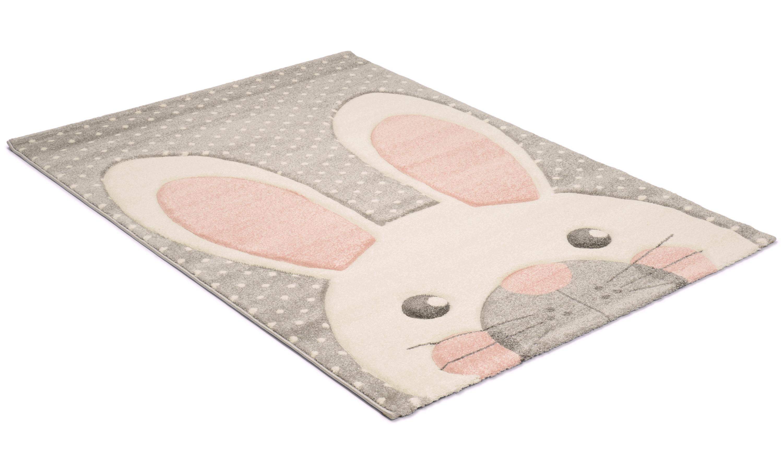 Image of   London rabbit grå - børnetæppe