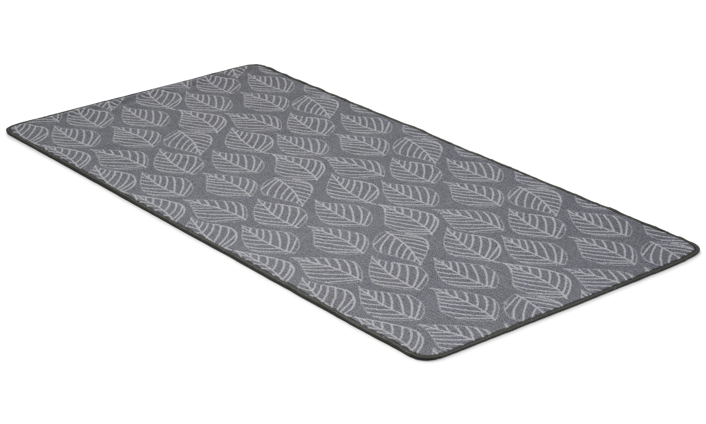 Image of   Leaf grå - tæppe med gummibagside