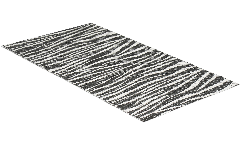 Zebra svart - plastmatta