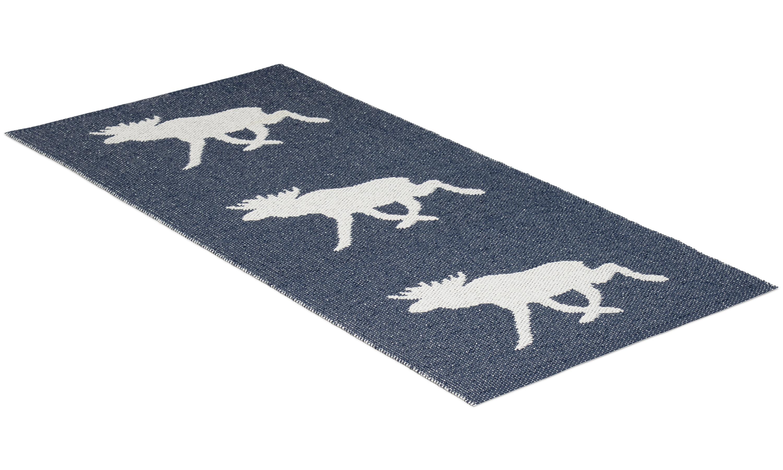 Moose marinblå - plastmatta