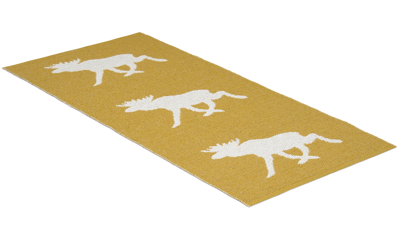 Moose senapsgul - plastmatta