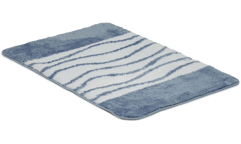 Image of   Lines denim - badeværelsesmåtte