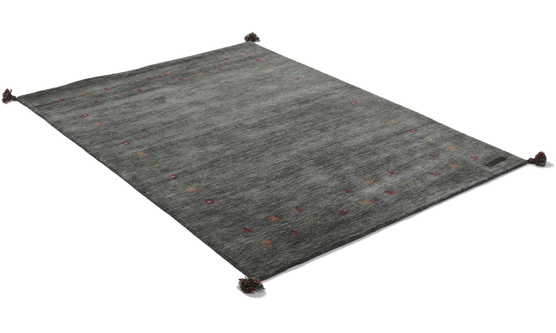 Gabbeh mörkgrå - handvävd matta med lugg