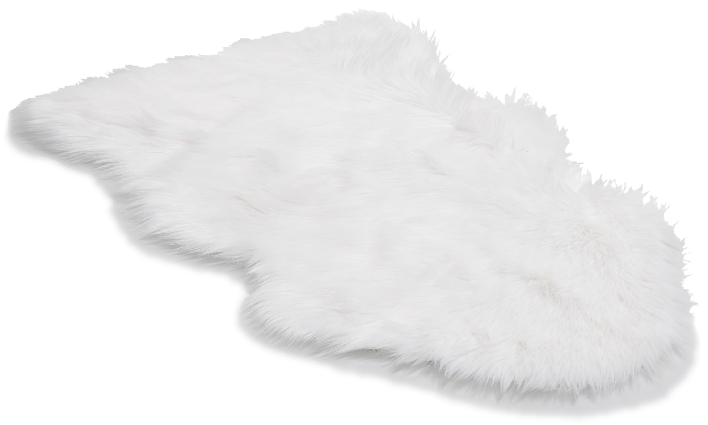 Image of   Hyggelig plaid hvid - imiteret fåreskind