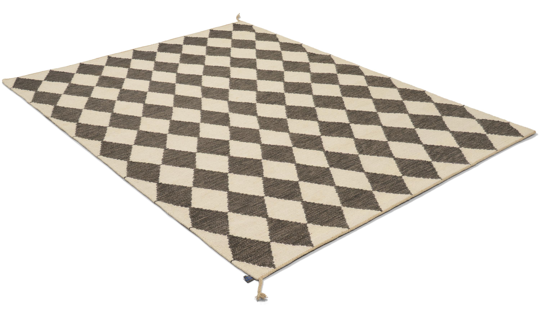 Image of   Harlequin grå - håndvævet uldtæppe