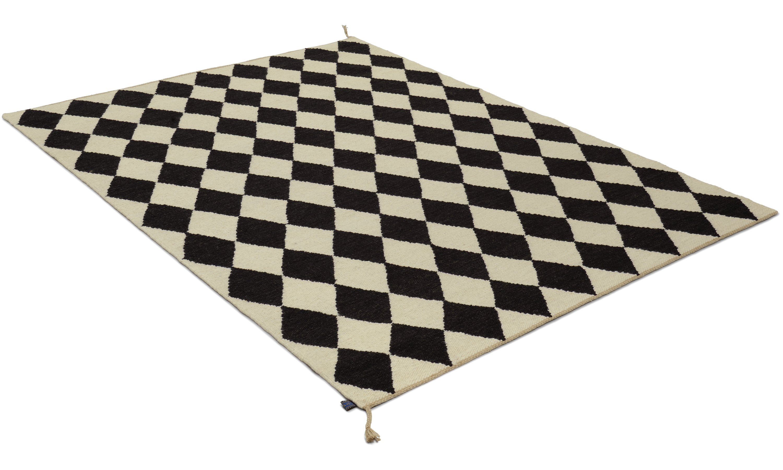 Image of   Harlequin sort - håndvævet uldtæppe