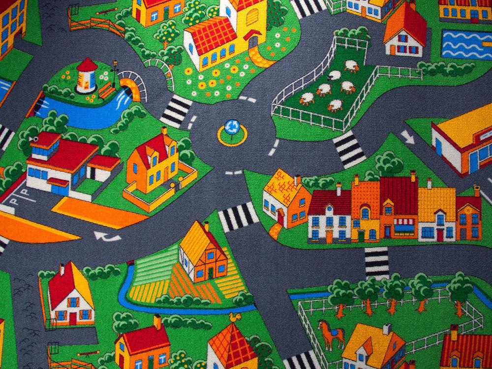 Image of   Playground multi 90 - væg til væg-tæppe