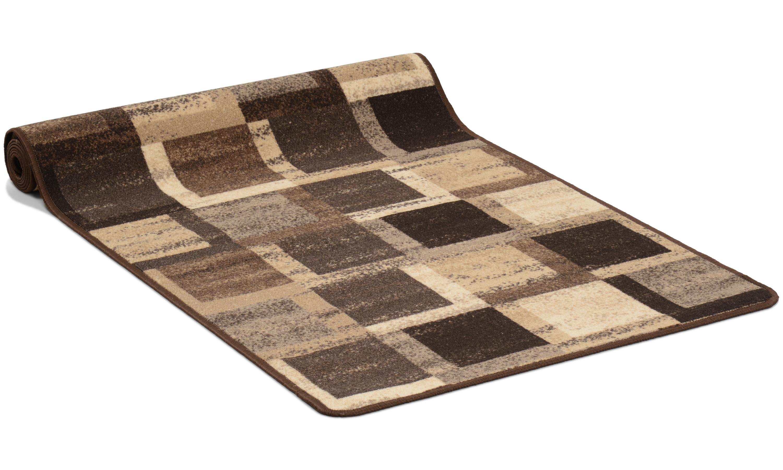Image of   Kvadrat brun - løber i metervare