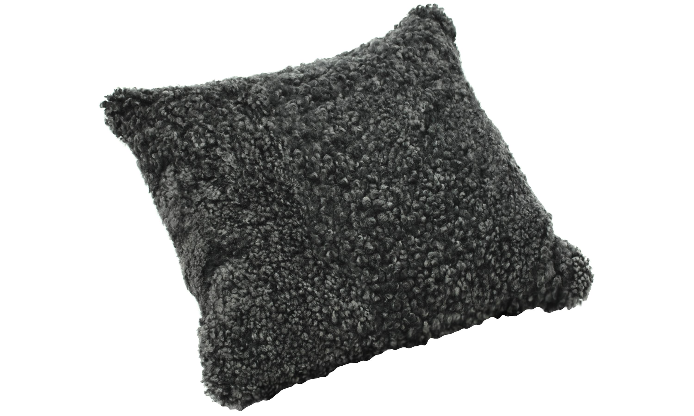Image of   Krøllet fåreskindspude - mørkegrå