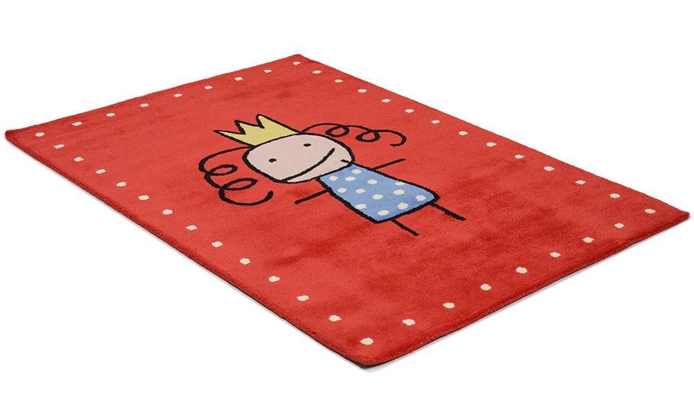 Image of   Tiny prinsesse rød - børnetæppe