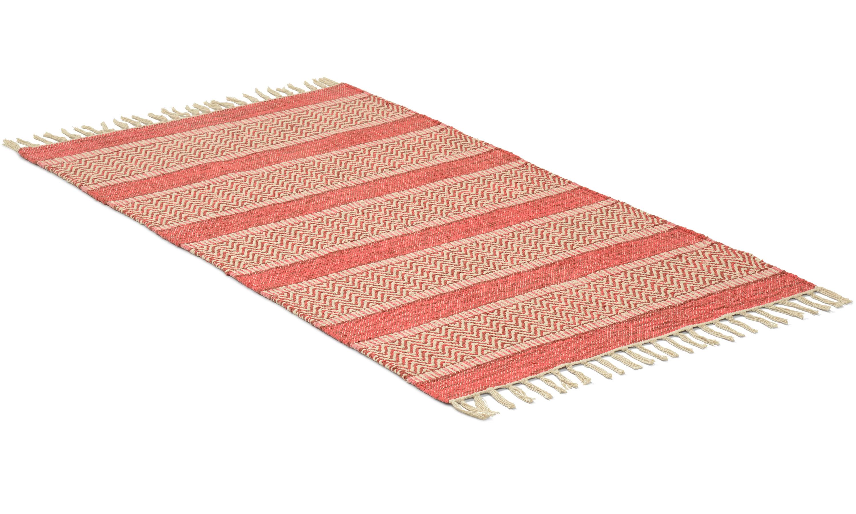 Rimbo röd - trasmatta