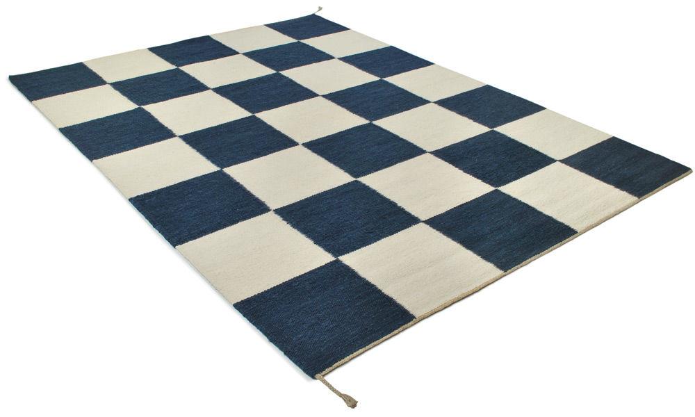 Image of   Haga blå - handvävd ullmatta