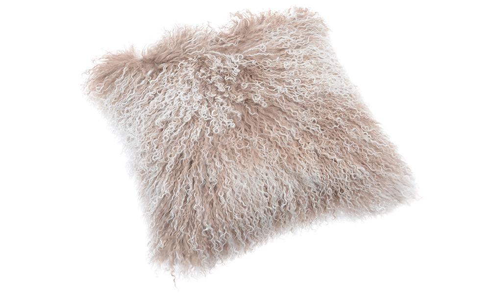 Image of   Shansi fåreskindspude - beige snowtop