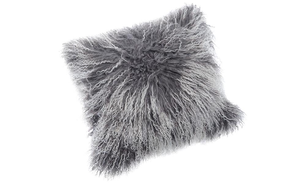 Image of   Shansi fåreskindspude - grå snowtop