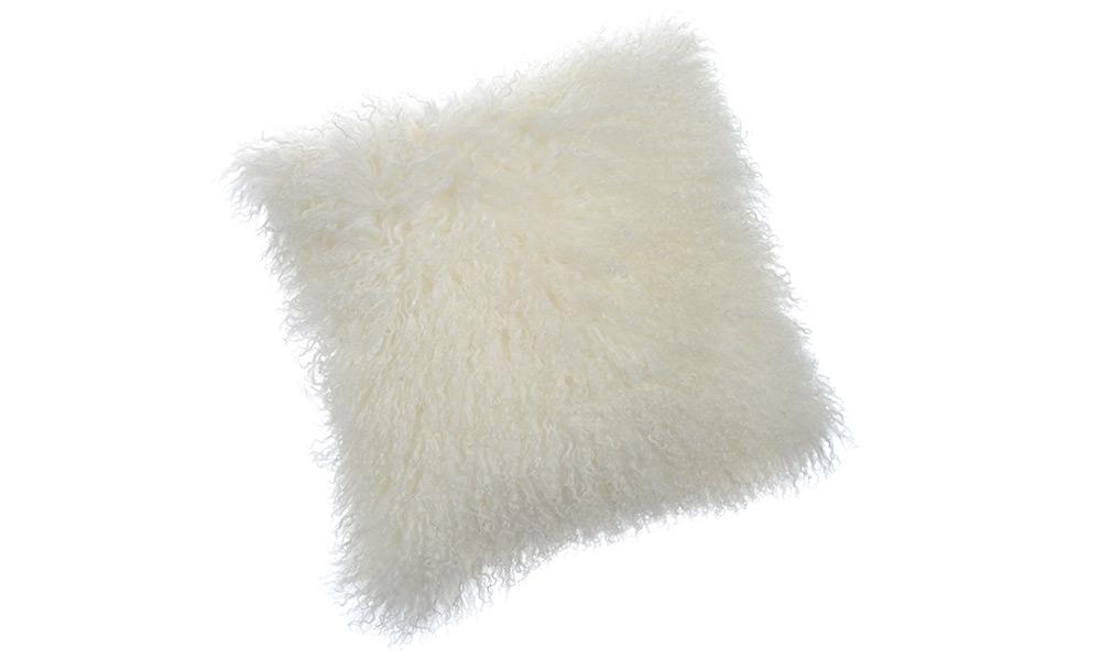 Image of   Shansi fåreskindspude - hvid