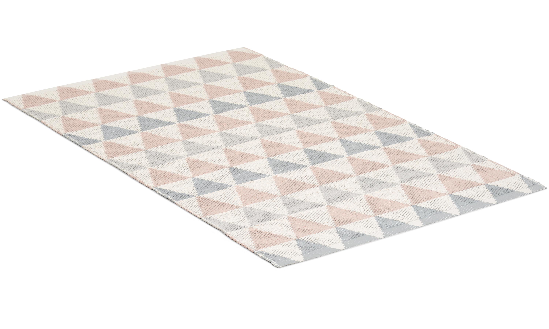 Tribus rosa/grå - plastmatta